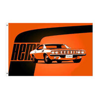 PLYMOUTH HEMI BARRACUDA TAILGATING FLAG 5FT X 3FT AMERICANA - FREE DELIVERY