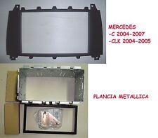 MERCEDES CLK 2004-2005  -  MASCHERINA 2 DIN PER AUTORADIO+PLANCIA METALLICA