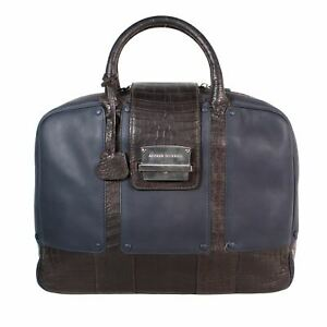 """DUNHILL Multicoloured Front Clasp Briefcase, 11"""" X 3.5"""" X 15.5"""""""