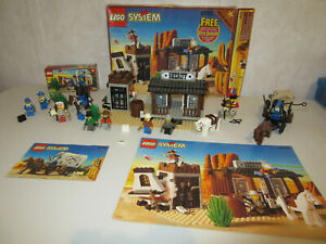 Lot of 5 Used Vintage Lego Western Sets 6706 6716 6755 2845 6709 Complete
