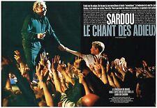 Coupure de presse Clipping 1998 (8 pages) Michel Sardou chante pour Jackie