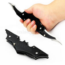 Folding Cool Pocket Black Double Blade Stainless Steel Knife Outdoor Kit Tool