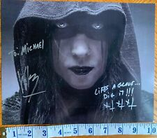 Wednesday 13 Signed Lined Dedicated Photo Wed Murderdolls FDQ Shock Rock Horror