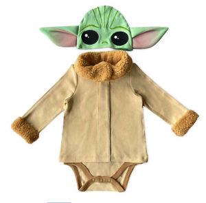 Disney Store Star Wars Baby Yoda The Mandalorian Child Costume Bodysuit 0-3 M
