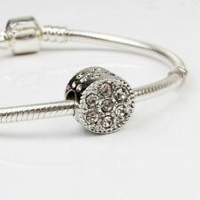 DIY 2pcs Silver European Charm Crystal Spacer Beads Fit Necklace Bracelet New