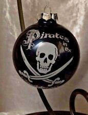 Disney Pirates of the Caribbean GLASS CHRISTMAS ORNAMENT -NEW