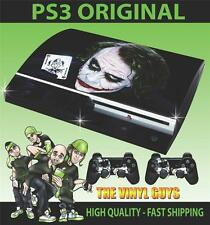 PLAYSTATION 3 / PS3 ORIGINAL WHY SO SERIOUS JOKER 001 STICKER SKIN & 2 PAD SKINS