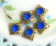 #751 Vintage Filigree Findings Charms Pendants Gold Tone Beads Connectors Square