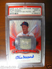 Stan Musial 2005 U D  Hall Of Fame 15/15  Autographed 1/1 Game Used Pant  PSA  9