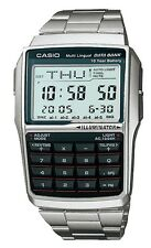 Casio DBC32D-1A Men's Classic Metal Band 25 Page Databank Calculator Watch