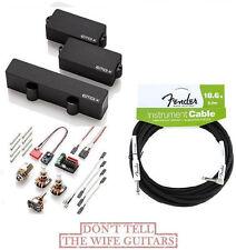 EMG PJ-X SET BLACK P BASS PICKUPS ( FREE FENDER 18FT CABLE ) Precision Jazz PJX