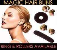 Magic Hair Bun Roller Ring Fashion Sponge Styling Donut Hairdressing UK Colour