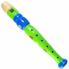 Keepdrum KFL2 GR Flöte aus Holz für Kinder Grün