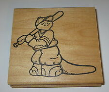 Dinosaur Baseball Rubber Stamp Boy Player Bat Hat Uniform Daisy Kingdom Retired