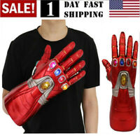 US! Iron Man Nano LED Gloves Thanos Infinity Gauntlet Avengers Endgame Adult Kid