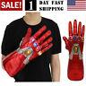 US! Iron Man Nano LED Gloves Thanos Infinity Gauntlet Avengers Endgame Adult Kid