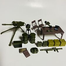 "20 COUNT LOT ARMY DIORAMA ACCESSORIES GI JOE COBRA SIZE 3 3/4"" INFANTRY TROOPERS"