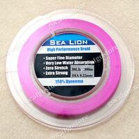 NEW Sea Lion 100% Dyneema Spectra Braid Fishing Line 300M 30lb Magenta