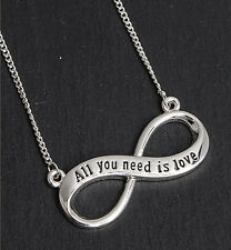 Equilibrio 69790 Argento Placcato Collana con ciondolo infinito-All you need is love