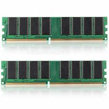 2GB (2x1GB) DDR 333 Mhz PC2700 184 PIN Non-ECC DIMM Desktop Computer Memory RAM
