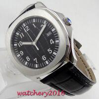 39mm steril Schwarz Saphirglas Steel Case Automatisch movement Uhr men's Watch