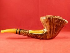 Luigi Viprati Collection Gold Pipe!  New/Never Smoked!  Real Amber!