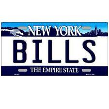 "Buffalo Bills New York State Background Novelty Metal License Plate 6"" x 12"""