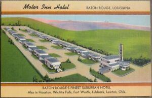 1940 Linen PC: Motor Inn Hotel - Baton Rouge, Louisiana