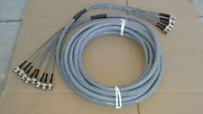 8 Pack DS3/735A  (8 strand) Multi coax cable  BNC Male   to  BNC Male  25 FT