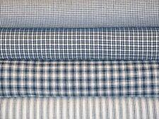 Navy Blue Homespun Fabric Fat Quarter Bundle Of 4