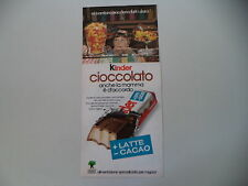 advertising Pubblicità 1977 KINDER CIOCCOLATO