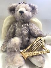 Annette Funicello Mohair Collectible Lavender Angel Bear Jointed Harp Halo