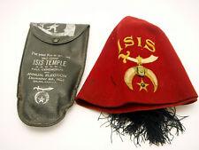 Vintage Masonic Shriners Fez Salina Kansas Isis Temple Fall Ceremonial 1923 Case