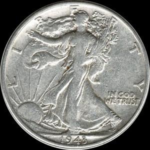 A 1943 P Walking Liberty Half Dollar 90% SILVER US Mint (Exact Coin Shown)