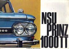NSU 1000 TT prospectus, 1965