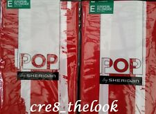 SHERIDAN POP MICHI EUROPEAN PILLOWCASES IN POPPY  BRAND NEW