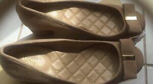 Michael Kors Shoes  Kiera Flex Tan Beige Suede Mid Pump Shoes Bows Sz 7.5M