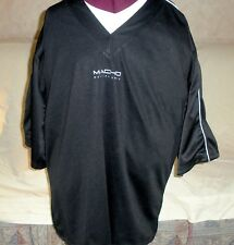 Macho Black Polyester Pullover / Coverup Top Shirt, Size Xl Mint!