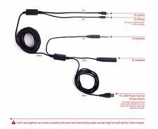 ATC Cable 18ft Long 5m GoPro Audio/Power Record Airplane Cockpit Intercom Radio