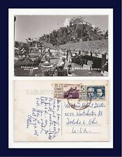MEXICO ACAPULCO HOTEL PALACIO TROPICAL REAL PHOTO 1957 TO THE FOSTERS OF TOLEDO