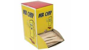 WOODEN CHIP FORKS 2000 PARTIES BBQ'S EVENTS  MR CHIP 4 x 1000