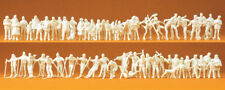 Preiser 16347 Échelle H0 Figurines,en Hiver non Peinte,# Neuf Emballage