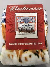 BUDWEISER Super Soft Micro-Raschel Throw. Brand New. 50 Inch X 60 Inch