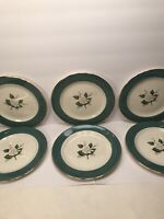 6 CENTURY SERVICE ''EMERALD'' ALLIANCE OHIO DINNERWARE SALAD PLATES  7 3/8''