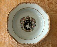 Circa 1765 Qing Qianlong Chinese Export Porcelain Armorial Rose Water Dish