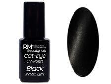 Cat Eye UV-Polish Gel 12ml Schwarz Anthrazit Nailart Nagel Trend #00910-06