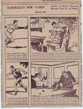 1939 newspaper panel Baseball's New Names - Merrill May Philadelphia Phillies