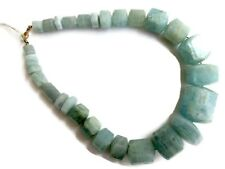 Huge OOAK Natural Aquamarine Layout Necklace 11x9mm To 33x24mm 18 Inches GDS992
