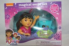 DORA Magical Smile Set- Toothbrush Holder, Toothbrush & Rinse Cup NEW NIB