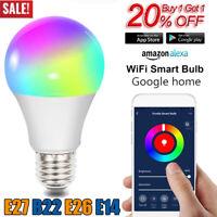 Wifi Smart Multi-Color LED Light Bulb for Amazon Alexa/Google Home App Control*